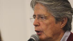 Guillermo Lasso, candidato a la elección presidencial de Ecuador por tercera vez. 2021.