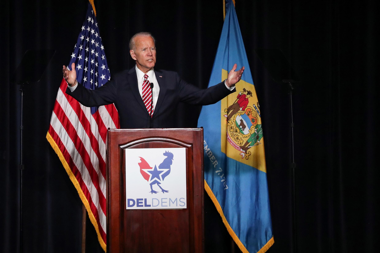 存檔圖片:美國前副總統拜登 Image d'archive: L'ancien vice-président américain Joe Biden à Dover en mars 2019, dans l'Etat qu'il a représenté pendant plus de trente ans au Sénat.