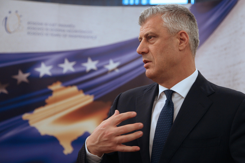 Президент Косова Хашим Тачи, 13 февраля 2018 год.