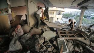Mais de 200 casas de palestinos foram destruídas pelos bombardeios israelenses.