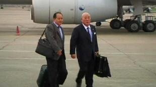 Emissário japonês Isao Iijima chega a Pyongyang, no último dia 14 de maio