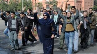 Protestos no centro do Cairo, 30 de janeiro de 2011