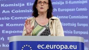 A comissária encarregada dos assuntos internos da Comissão Européia, Cecília Malmström