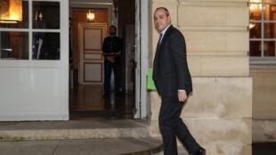 Le secrétaire général de la CFDT Laurent Berger arrive à Matignon le 18 décembre 2019.