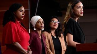 遭美国总统特朗普抨击的四名女众议员。
