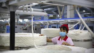 華孚時尚在新疆阿克蘇一處工廠,攝於2021年4月20日