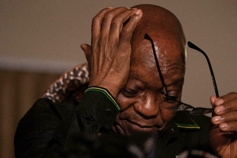 El expresidente sudafricano Jacob Zuma el 4 de julio de 2021 en su casa de Nkandla, en la provincia de KwaZulu-Natal (Sudáfrica)