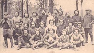 Đội bóng của lính Đông Dương trong Thế Chiến I (1914-1918).