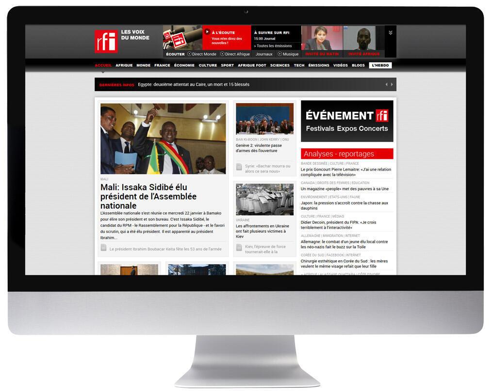 Nouveau site RFI