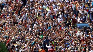委內瑞拉反對派2月12日在首都大規模集會抗議馬杜羅政府