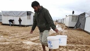 A Syrian refugee in Jordan