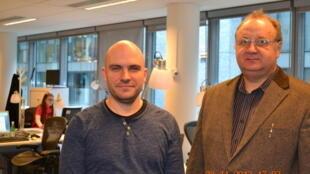 Виктор Кондрашин (справа) и Франсуа Девер в русской редакции RFI 28/11/2013