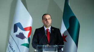 Nasr al-Hariri, representante da  oposição  síria na retoma das negociações  de paz em Genebra. 27 de Novembro  de 2017