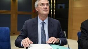 Le directeur de cabinet de la présidence française Patrick Strzoda devant la commission d'enquête du Sénat, le 16 janvier 2019.