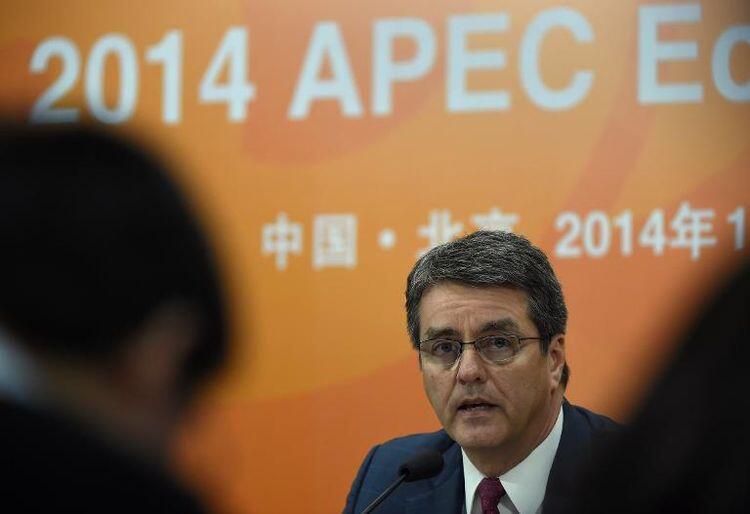 "Roberto Azevedo   رئیس برزیلی سازمان تجارت جهانی، در حاشیه برگزاری اجلاس ""آپک"" در پکن"