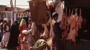 Marché de Kaboul en 1979.