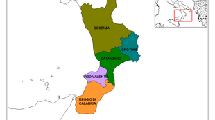 Calabria and its provinces