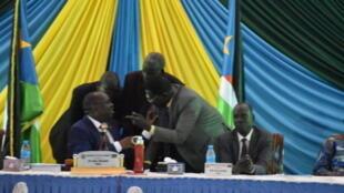 Spika wa bunge nchini Sudan Kusini akisikiliza wabunge wakati wa kusomwa kwa Bajeti ya fedha Juni 19 2019