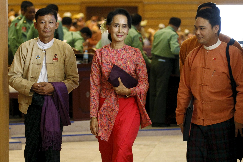 Myanmar's National League for Democracy leader Aung San Suu