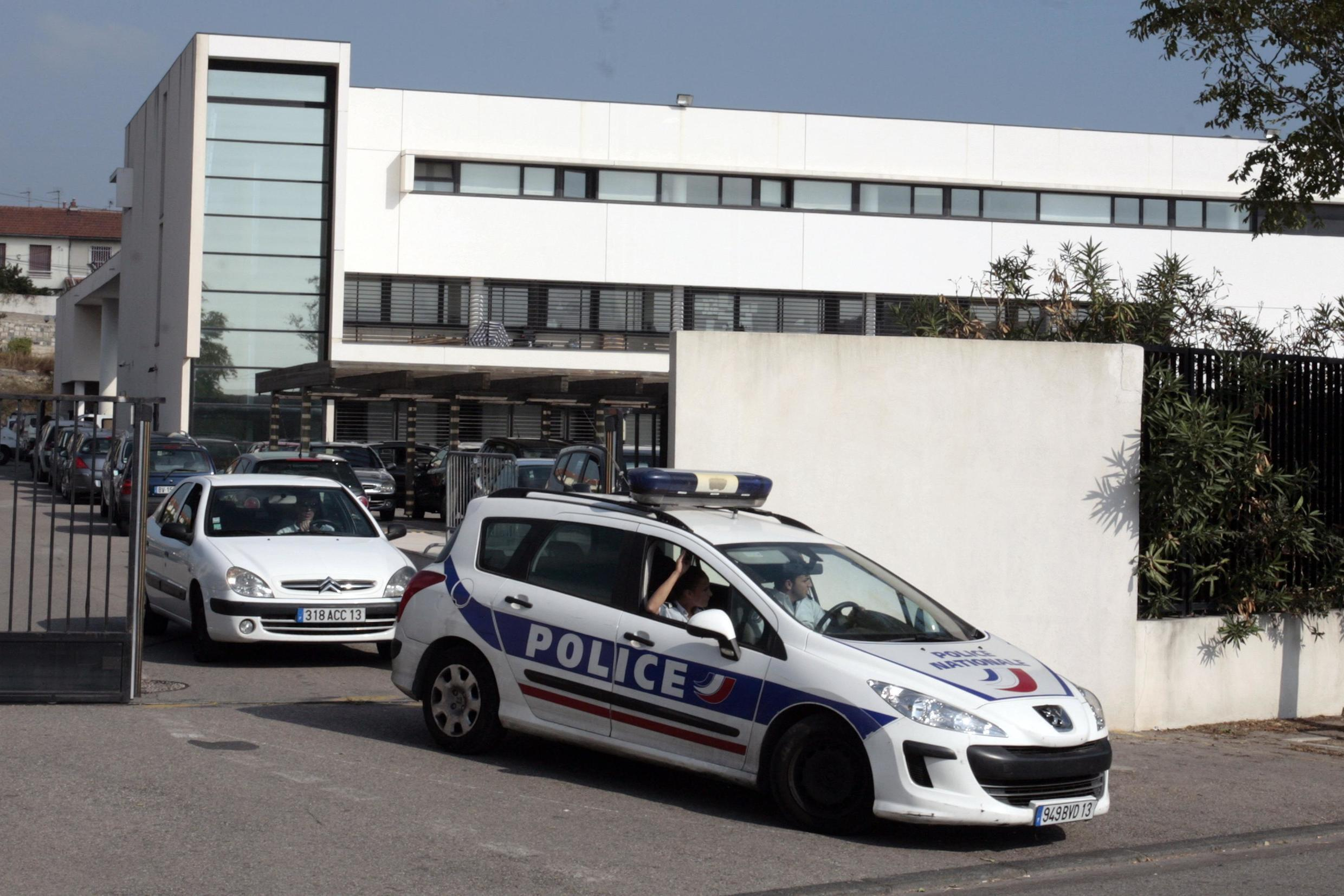 Police cars in Marseille