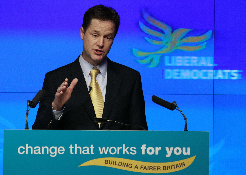 Le leader des libéraux-démocrates britanniques, Nick Clegg.