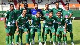 L'équipe du Raja Casablanca lors d'une rencontre face à l'Asec Mimosas en juillet 2018.