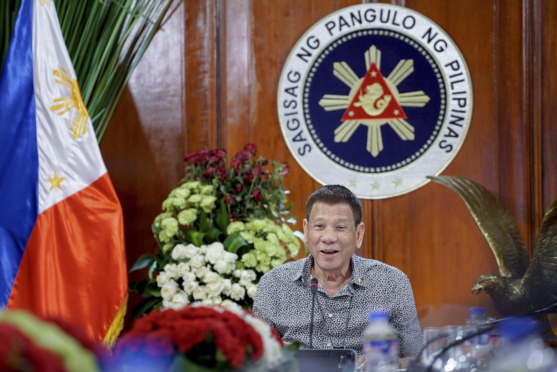 Ảnh minh họa: Tổng thống Philippines Rodrigo Duterte ngày 30/08/2020 tại phủ tổng thống ở Manila.