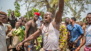 IMAGE Manifestants au Bénin. 08/04/2021
