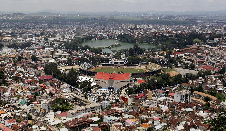 Une vue de la capitale Antananarivo à Madagascar.