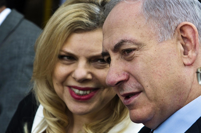 Waziri mkuu wa Israel Benjamin Netanyahu na mke wake Sara , Desemba 4, 2014.