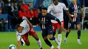 Yunis Abdelhamid held Neymar scoreless as Reims stunned Paris-Saint Germain 2-0, Parc des Princes, Paris, 25 September 2019.