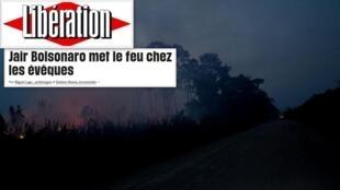 """O jornal Libération publica um artigo de opinião de dois especialistas brasileiros, Miguel Lago e Stefano Nunes, sobre o Sínodo da Amazônia, com o título: """"Bolsonaro incendeia os bispos."""""""