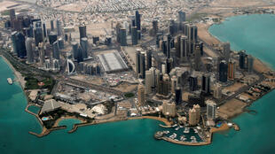 Vue aérienne de Doha au Qatar.