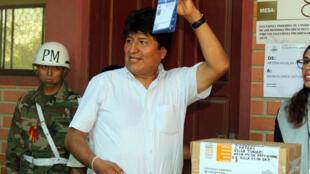 Evo Morales, lors des élections primaires le 27 janvier 2019, qui l'ont désigné comme candidat à la présidence et du coup enterré le référendum du 21 février 2016.