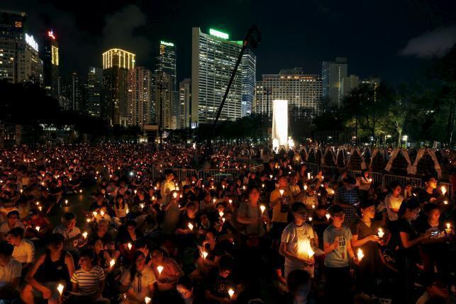 香港年輕人維園紀念六四