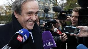 Michel Platini announcing he would not run for Fifa presidency and dedicate himself to clearing his name