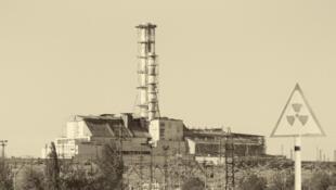 Tchernobyl: le réacteur numéro 4 qui a explosé le 28 avril 1986.