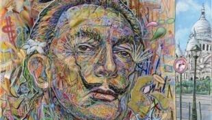 """Dalí fait le mur"" de Arnaud Rabier ""Nowart""."
