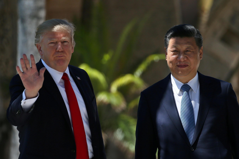 Tổng thống Mỹ Donald Trump và đồng nhiệm Trung Quốc Tập Cận Bình tại Palm Beach, ngày 07/04/2017.
