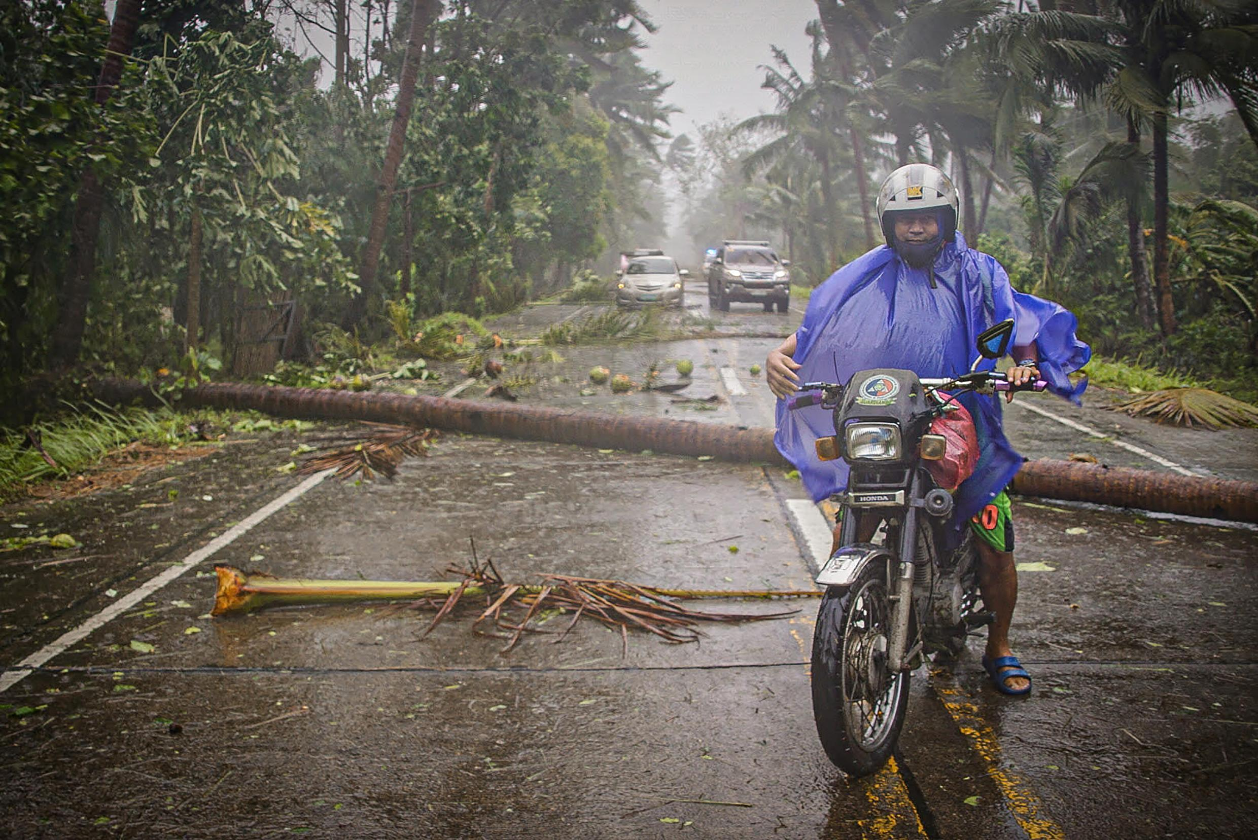 Tens of thousands have been forced to evacuate in the Philippines because of a powerful typhoon