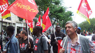 CGT members on a demonstration of immigrant workers