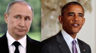 Shugaban Rasha, Vladmir Putin da Barack Obama na Amurka