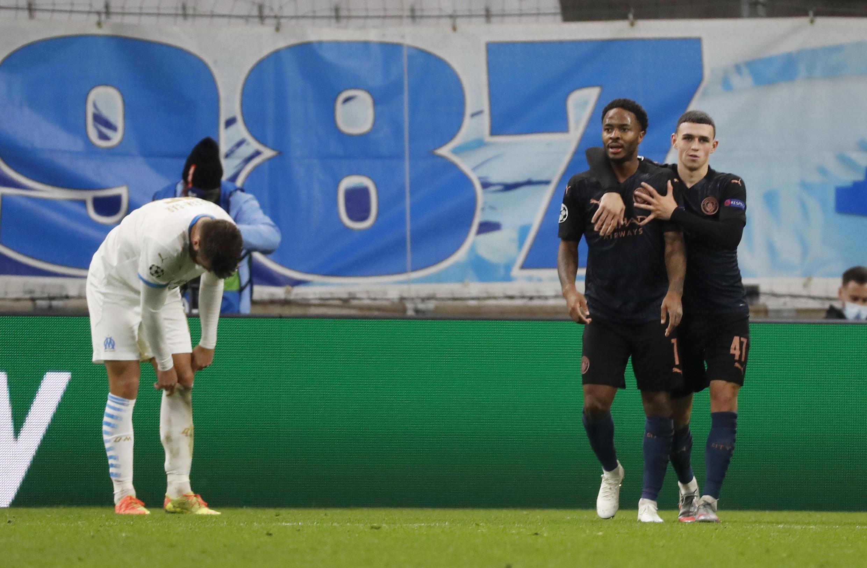 Manchester City maître du stade Vélodrome après le 3e but de Sterling face à l'OM. Le 27 octobre 2020.