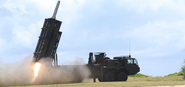 Lục quân Nhật Bản bắn tên lửa địa đối hạm từ đảo BARKING SANDS (Hawaii), nhân cuộc tập trận RIMPAC 2018 ngày 12/07/2018 ngoài khơi Hawaii (Mỹ)