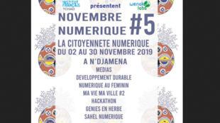Affiche du novembre numérique au Tchad.