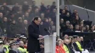 Discurso François Hollande no Hotel dos Invalides.