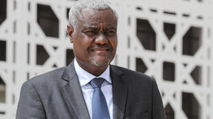 African Union Commission Chairperson Moussa Faki poses for a photo during the G5 Sahel summit on 30 June 2020 in Nouakchott.