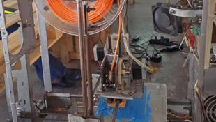 L'imprimante 3D du woelab créé avec des ordinateurs recyclés.