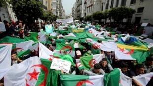 Manifestation à Alger, en Algérie, le 23 avril 2019.