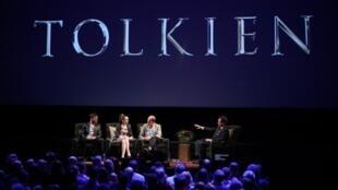 L'équipe du film «Tolkien» lors du festival de Montclair, en mai 2019.